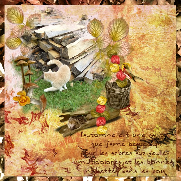 falling in autumn kit simplette page lady