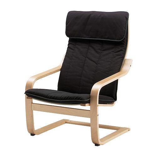 donne fauteuil ik a poang noir. Black Bedroom Furniture Sets. Home Design Ideas
