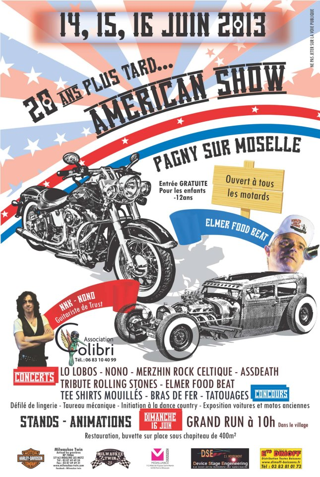 American show 14 15 et 16 juin 2013 pagny sur moselle for Garage ford moselle
