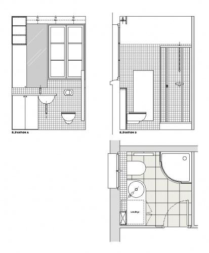 plan de salle de bain en longueur - bien utiliser l 39 espace