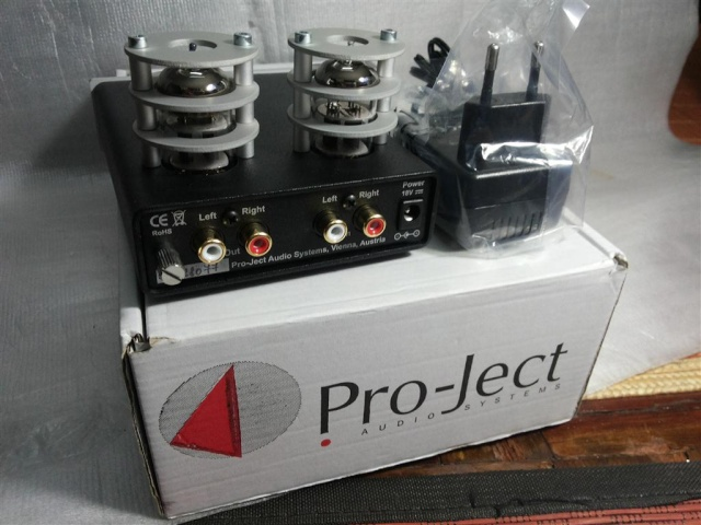 pro ject tube box s phono stage sold. Black Bedroom Furniture Sets. Home Design Ideas