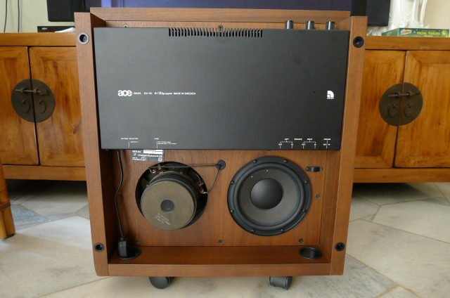 audio pro ace bass b2 50 powered subwoofer sold. Black Bedroom Furniture Sets. Home Design Ideas