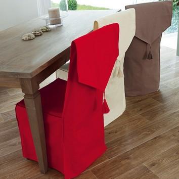 La salle manger les tissus se mettent table - Comment faire des dessus de chaise ...