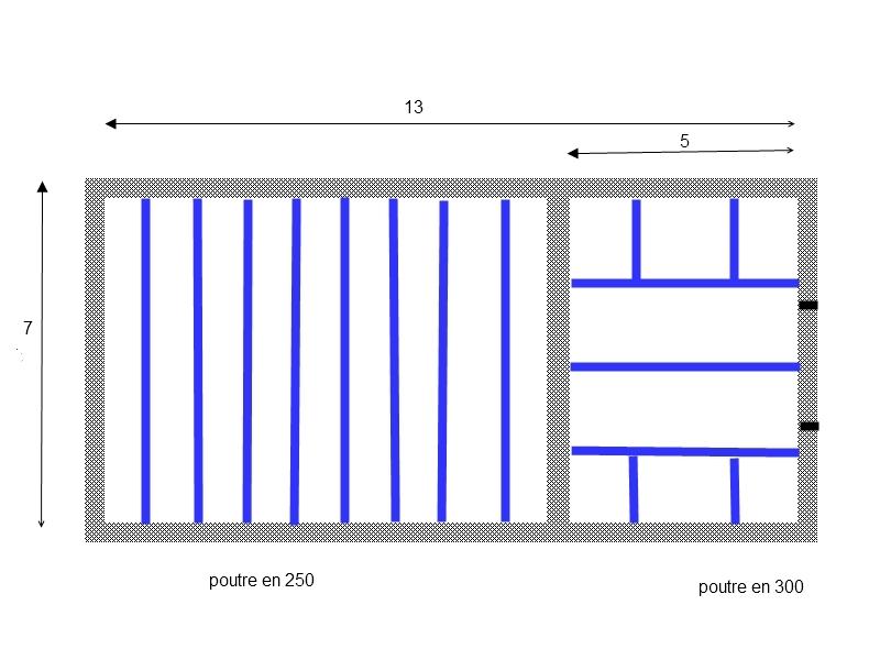 Besoin d 39 aide solivage et plancher bois garage 7x13 6 - Faire un plancher en bois dans un garage ...
