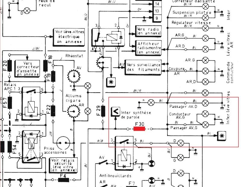probl u00e8me allumage feux sur safrane phase 1 - renault - m u00e9canique     u00c9lectronique