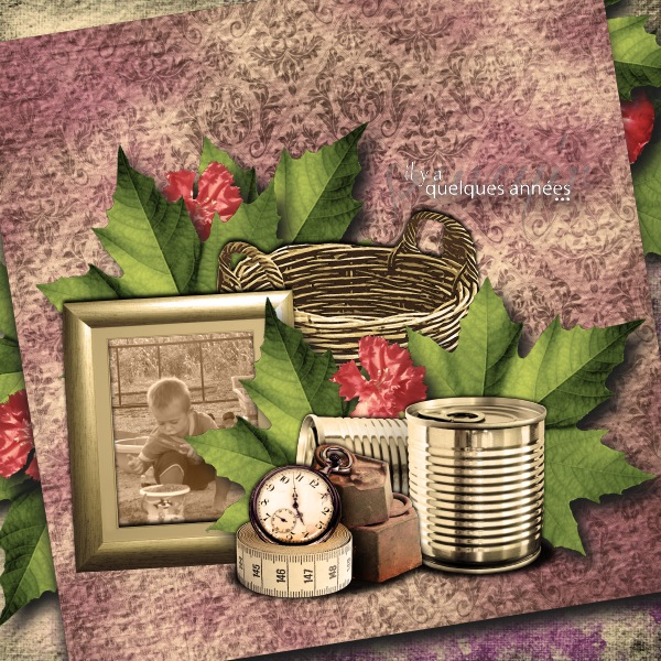 some years ago simplette scrap design vintage page lauso