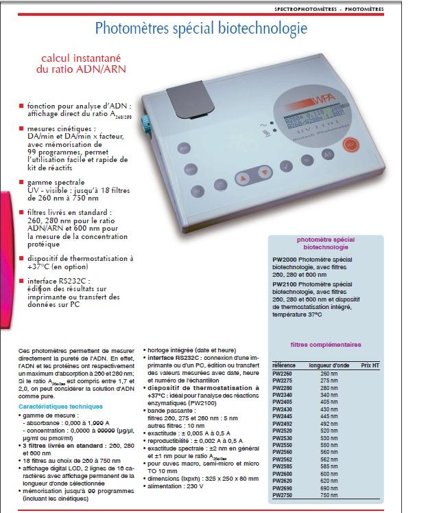 Utilisation d 39 un spectrophotometre uv - Appareil pour mesurer les ondes ...
