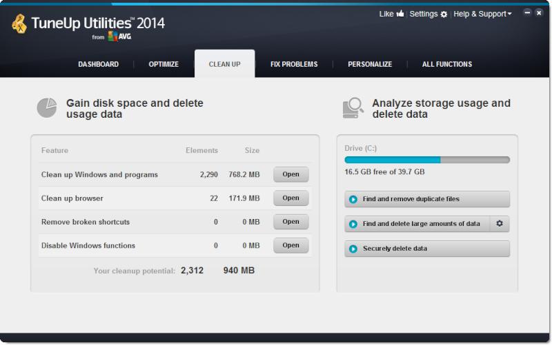 نسخة حديثة كاملة ومفحوصة من TuneUp Utilities 2014 14.0.1000.90 cleanu10.png