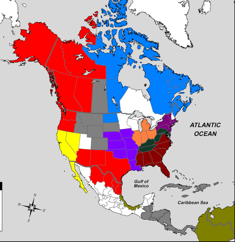 NationStates View Topic USA Civil War OOCSIGNUPS - Map of the us during civil war