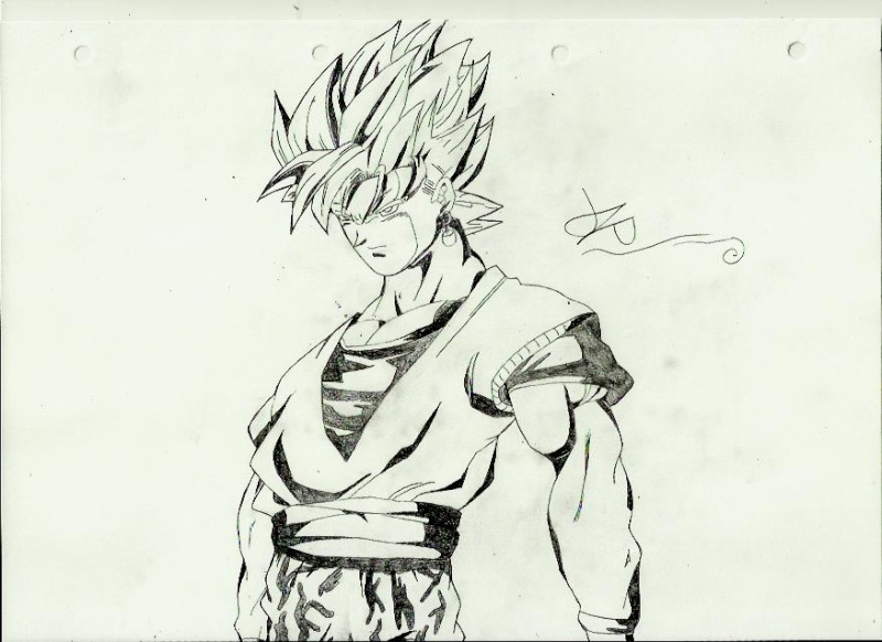 Dessin style manga vegeto - Dessin manga image ...