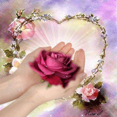 mains roses