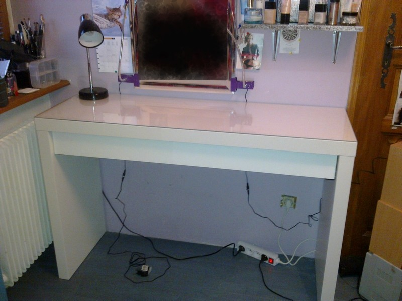 Awesome coiffeuse malm blanche contemporary transforma - Commode coiffeuse ikea ...